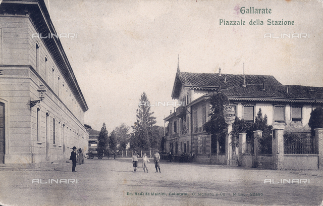 The railway station of Gallarate, Varese