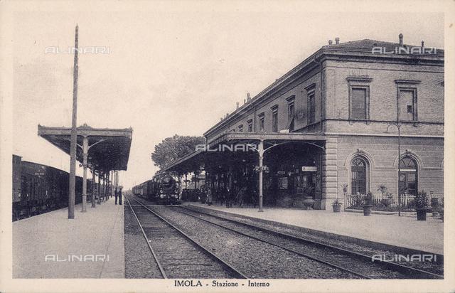Tracks of the Imola railway station, Bologna