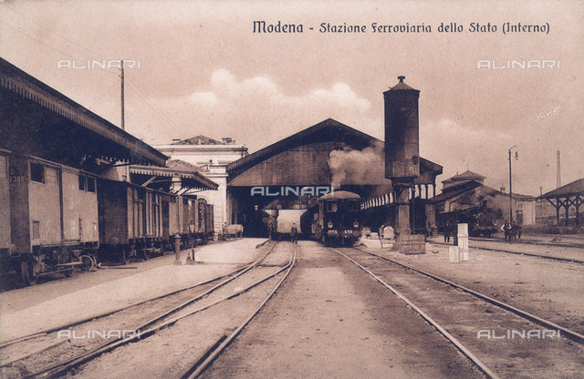 The railway station of Modena
