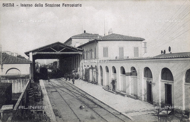 Interior of the railway station of Siena
