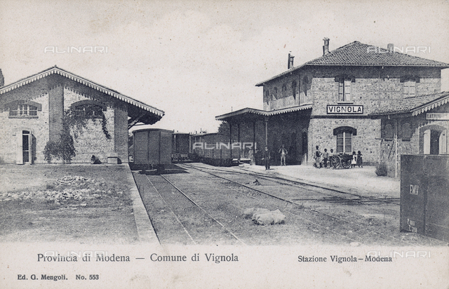 The train station of Vignola, province of Modena