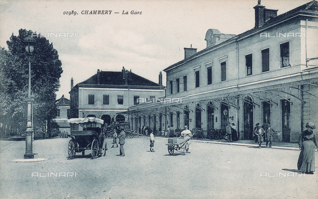 Railway station at Chambery, France