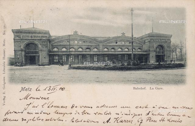Railway station at Metz, France
