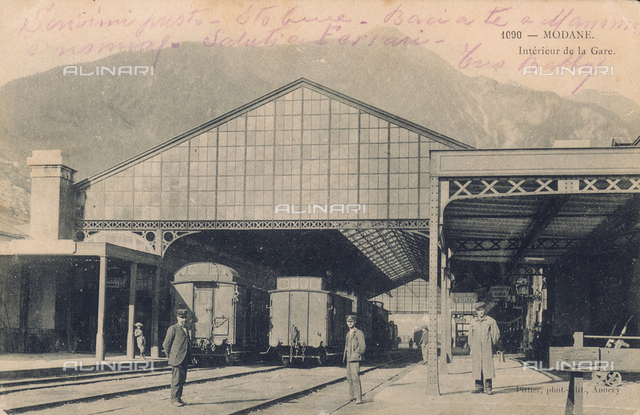 Railway station at Modane, France
