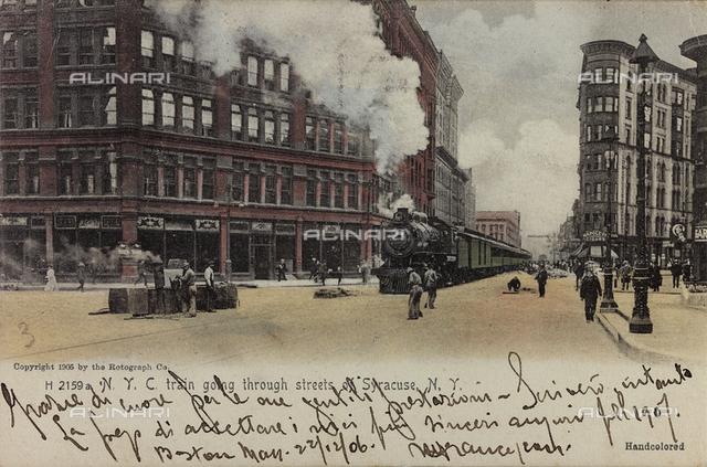 Train with steam locomotive train from Bristol to Paddington, print on postcard of G. F. Heiron