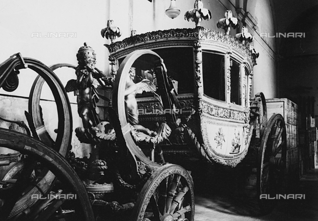 Old papal carriage preserved in Vatican City