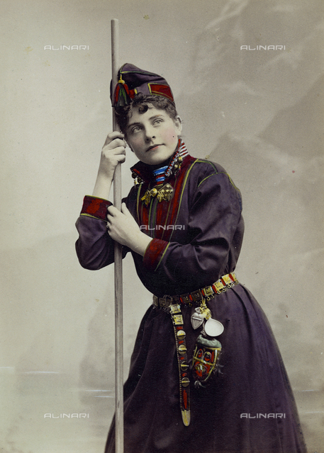 Portrait of women in traditional costume, Stockholm