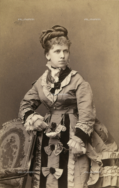 Portrait of a woman in clothing of the epoch