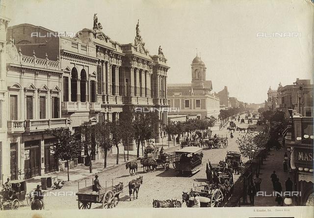 View of Boulevard Callao, Buenos Aires