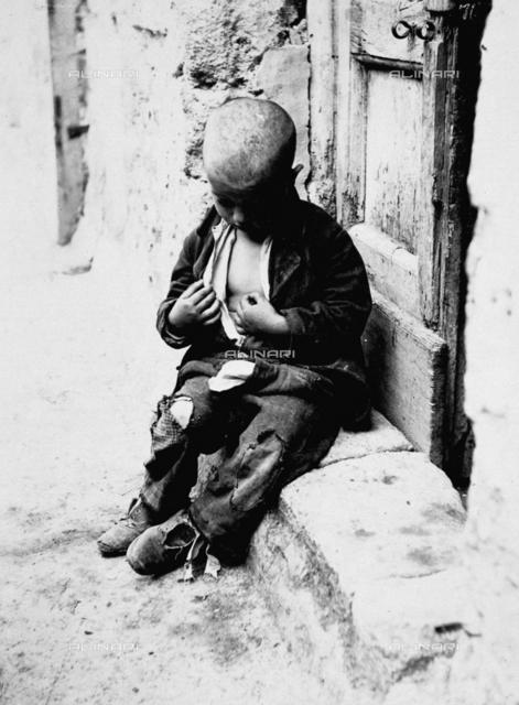 Naples, beggar