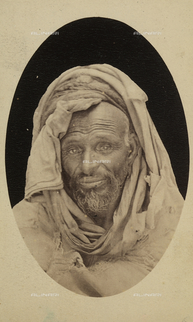 Oval portrait of an Algerian from Bliuhah.