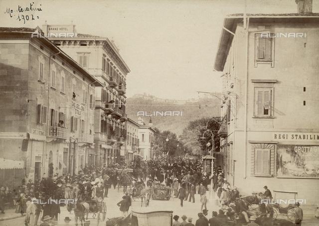 Animated view of Giuseppe Verdi Street in Montecatini Terme