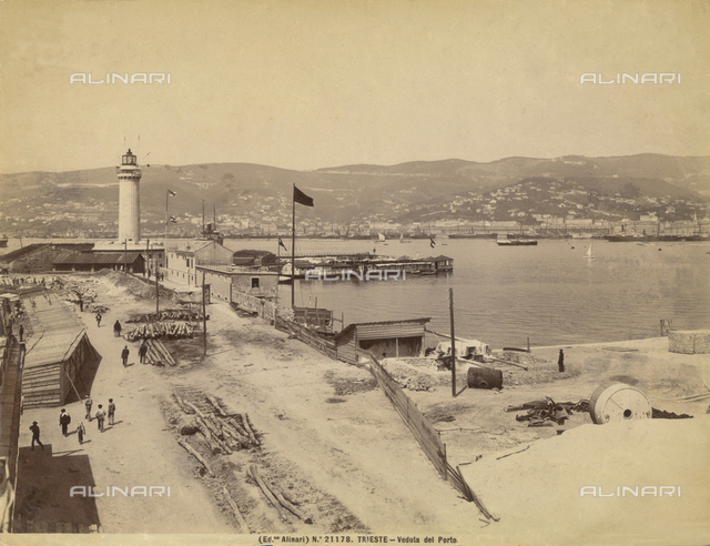 View of the port of Trieste