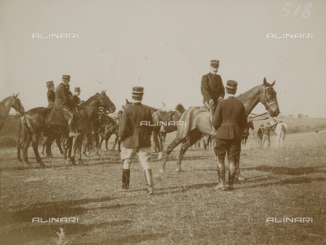 School of war: a group with military horse