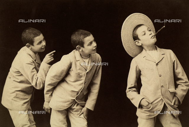"""""""Multiple Photograph"""". Photographic study of a young boy"""