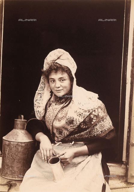 Belgian (female) milk vendor