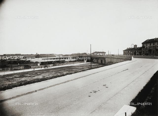 Railway bridge over the Novara station