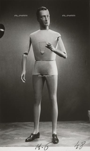 "Mannequins of the ""Rosa manichini artistici-Milano"" company. Male mannequin"
