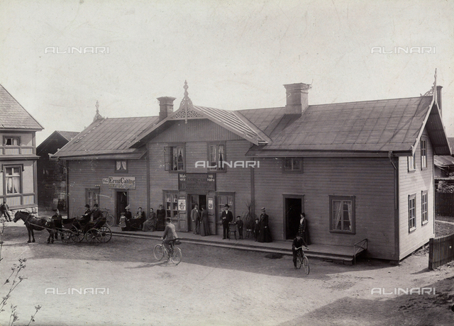 A few shops and homes of the city of Ljusdal in Sweden