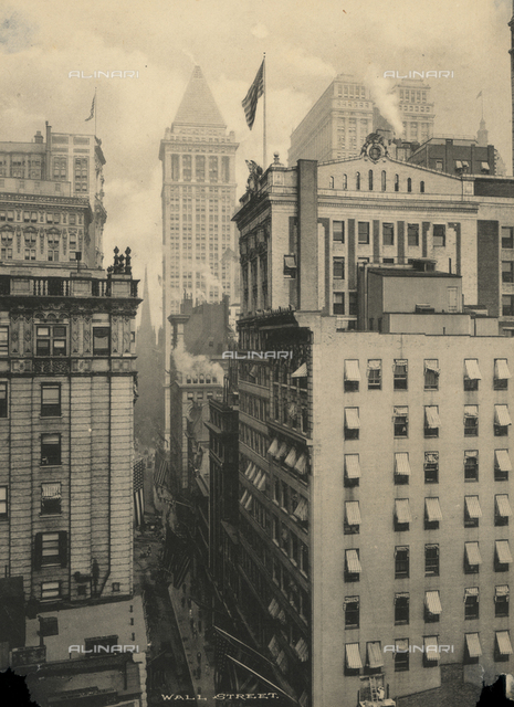 View of Wall Street, New York