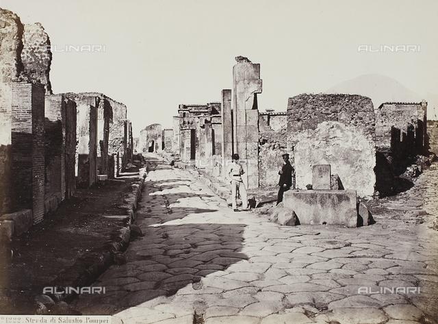 View of the Sallust Street, Pompei