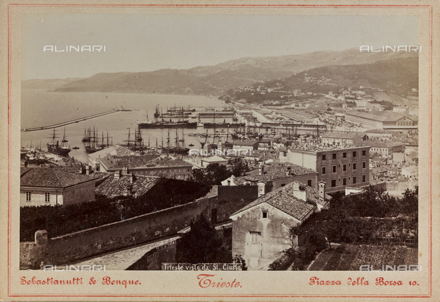 Trieste Panorama seen from San Giusto hill