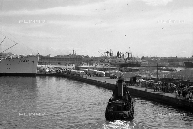 View of the port of Alexandria in Egypt