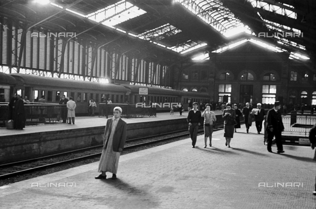 Interior of the Railway Station of Alexandria in Egypt