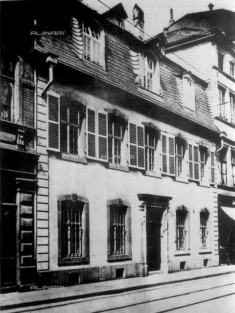 The house where born the philosopher, economist and politician  KARL  MARX  (Treviri  1818 - London 1883) in Bruckengasse 664, Treviri, Germany