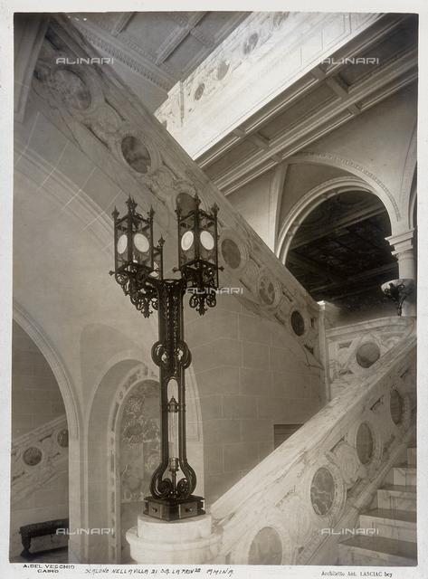 The balustrade of the grand staircase in Princess Amina's villa in Cairo