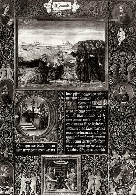 The Calling of the Apostles, Breviary of Mattia Corvino, Apostolic Vatican Library, Vatican City