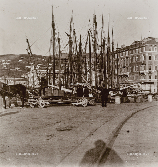 Boats in the port of Trieste