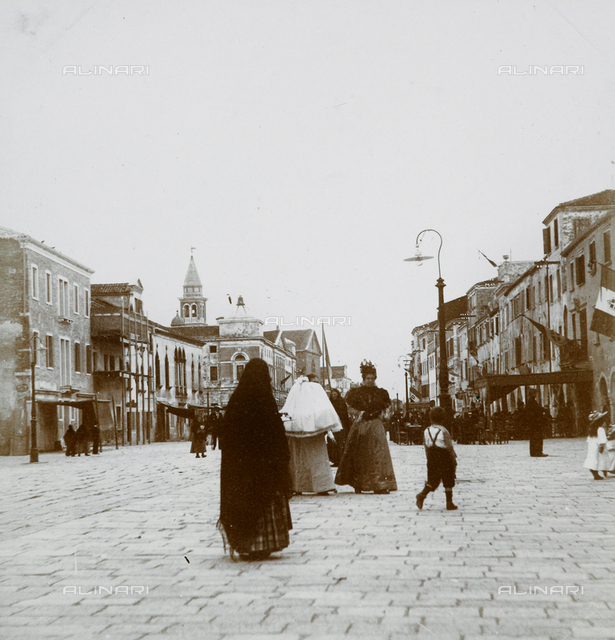Lively view of the main street in Chioggia