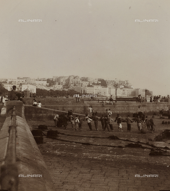 """View taken passing near the Villa in Chiaia"", Naples"