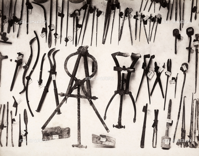 Surgical equipment from ancient Roman times, excavated in Pompeii