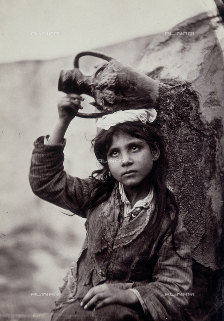 Child with amphora