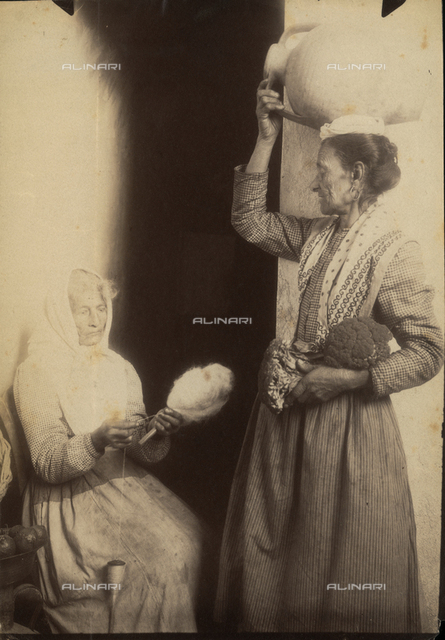 Portrait of two elderly Sicilian women