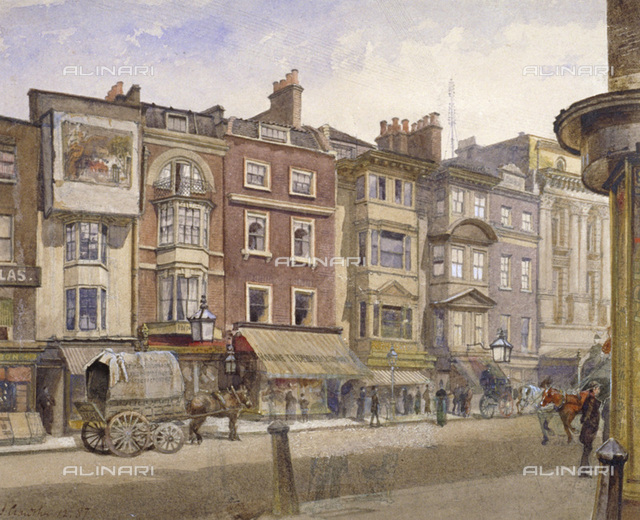 Nos 412-418 Strand, Westminster, London, 1887. View showing the Adelphi Theatre in the background, London Metropolitan Archives, London