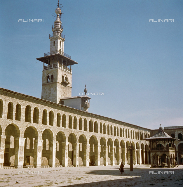 The Umayad Mosque, Damascus.  Culture: Islamic. Date/Period: 706-715 AD. Place of Origin: Damascus, Syria.