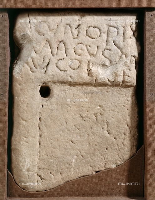 Tombstone of a man named Cunorix, Wroxeter Roman City, Shropshire, c1989-c2007. The man was buried between 450 and 475