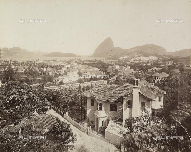 'Rio de Janiero': Praia De Botatogo seen from Rua de Olinda in Brazil