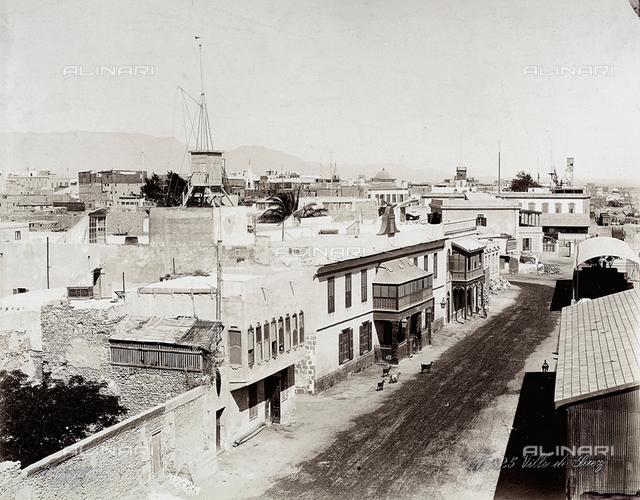 The city of Suez, in Egypt