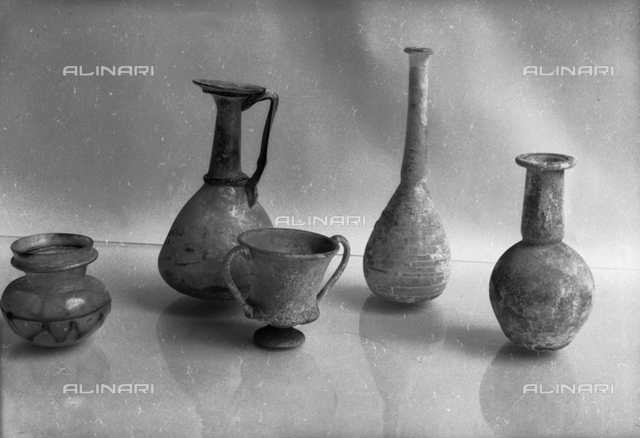 Objects in Roman glass, Museum of Glass, Murano, Venice