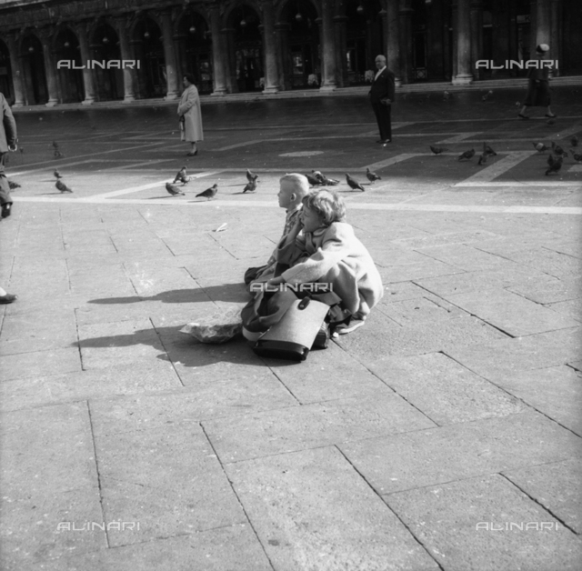 Foreign children in Piazza D. Marco, Venice