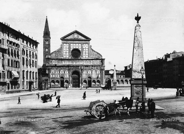 Faà§ade of the Church of Santa Maria Novella, Florence