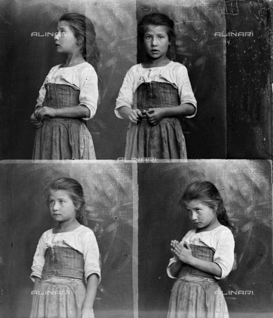 A sequence of images representing a child in different poses
