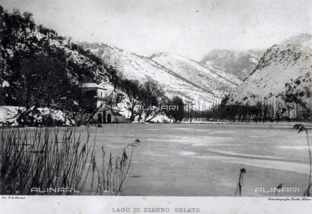 Lake Scanno frozen over