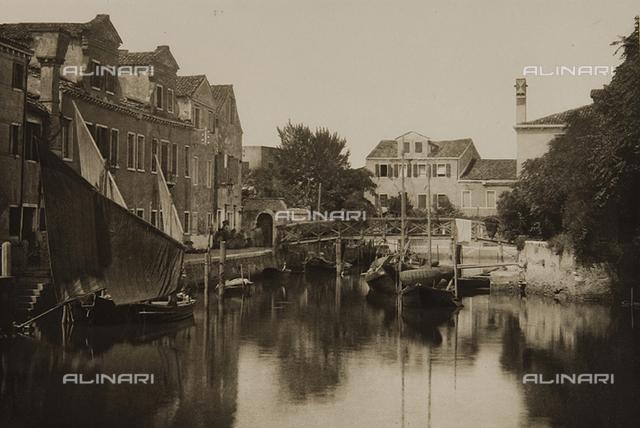 A canal on the island of Giudecca, Venice