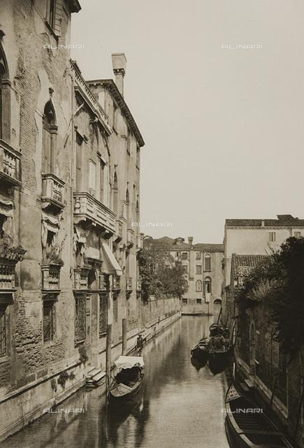 Animated view of the Rio dei Sartori, Venice