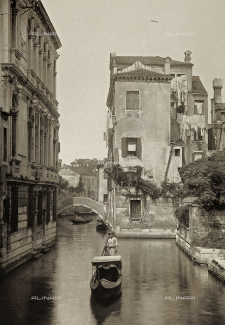 Animated view of Rio Sant'Agostino, Venice